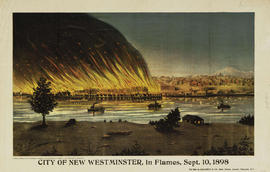 City Of New Westminster, In Flames, Sept. 10, 1898.