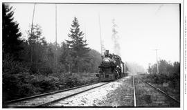 4-6-0 Esquimalt and Nanaimo [E & N] No. 462, 3/4 left, almost head-on. Mid-distance. On passe...
