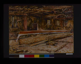 Racing Canoes, Inside House At Quamichan Reserve....