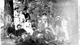 Alexander G. McCandless and friends having a picnic at Gorge park near Victoria