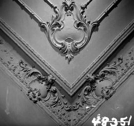 "Decorative ceiling moulding; see HP048347 and HP048349; George H. Aylard's residence ""S..."