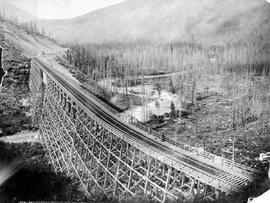 """Mountain Creek Bridge, showing Beaver Valley, Summit of Selkirks, BC."""