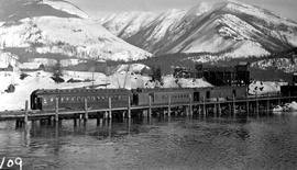 The village of Rosebury on Slocan Lake.