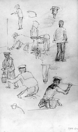 [Various Figures - Sailors- Working On Boat]