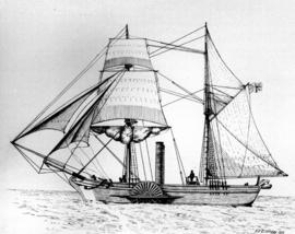 Hudson's Bay Company's 'The Beaver', built on the Thames, sailed around the h...