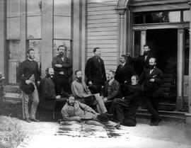 Walter Moberley and the Canadian Pacific Railway Geological Survey Party in Victoria.