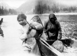 Bella Coola Indians With Oolichan Catch