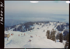 Skiing Grouse Mountain, North Vancouver.