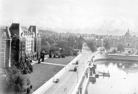 Composite photo of Victoria's inner harbour.