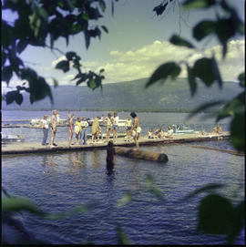 Shuswap Lake, Children Playing On Wharf, Copper Island