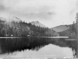 Last camp at Echo Lake, one mile from Ningunsaw River; Atlin-Quesnel telegraph line.