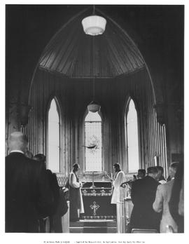 Church service at St. Saviour's Church; at the official opening of Barkerville as an histori...