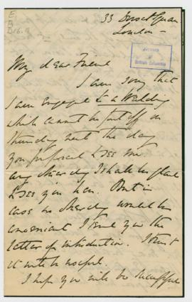 Letters of Introduction: 5. H.V. Broughton: 2 letters and 1 envelope