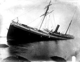 The SS Mexico aground.
