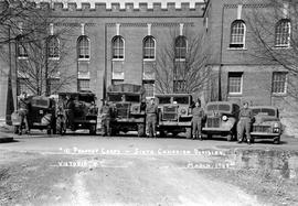 """10 Provost Corps - Sixth Canadian Division, Victoria, BC, March 1943""; outside the Bay Street Armoury, Victoria"