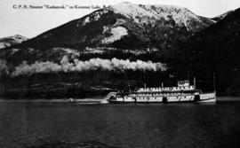 """CPR SS Rossland on Arrow Lake, BC."""