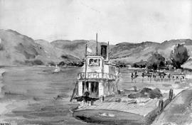 [Steamboat On Lake In Interior?]