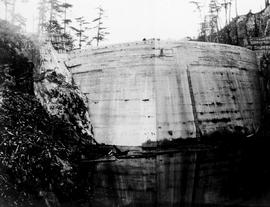 """Nanaimo Dam construction from west at bottom of canyon, Oct 15th 1931"", No. 38, (left ..."