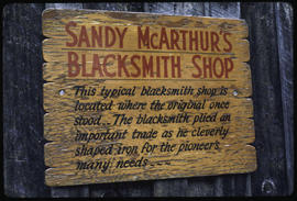 Signs Of Barkerville - Blacksmith