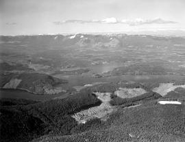 Aerial Of Logging Operation Near Sproat Lake