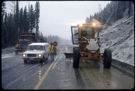 Snow Removal On Highway Near Creston