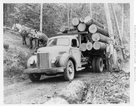 Loaded Logging Truck Holding Lumber Co. Adams Lake