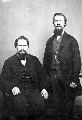 Left to right; James Ammes, a blacksmith at Barkerville, and William Cameron.