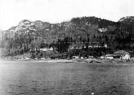 """Britannia Beach, a mining town on Howe Sound."""