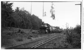 4-6-0 Esquimalt and Nanaimo [E & N] No. 462, 3/4 left. Mid-distance. On passenger. Stockett J...