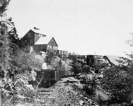 Shaft house at the Le Roi Mine, Rossland.