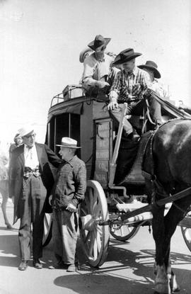 Abbotsford. Stagecoach At BC Centennial Celebrations