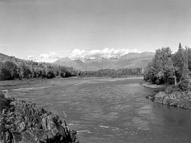 Babine Range And Skeena River Near Hazelton
