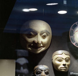 First Nations masks on display at the BC Provincial Museum in Victoria.