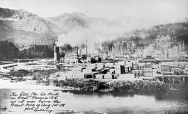 """The Elk Lumber Company's mill in West Fernie, BC as it was before the great fire of Au..."