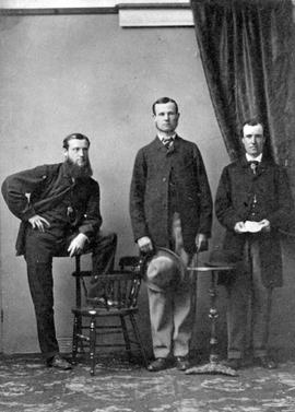 Thomas Lett Stahlschmidt, B. Mackenzie and Robert Burnaby.
