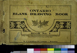 Blank Ontario Drawing Book No. 1. Nass River, Q.C.I. sketchbook