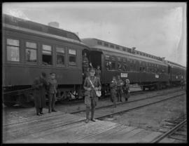 No. 5 Platoon, 48th Battalion departs from Vancouver