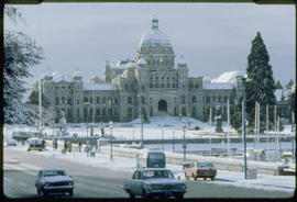 Winter Scene, Legislative Buildings Victoria
