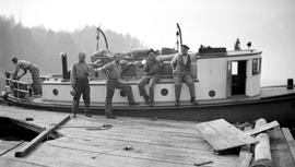 Forest Service; launch, Beatrice R.; on the Alberni Canal.