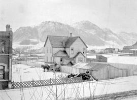 Kamloops Museum photo; looking towards Mount St. Paul, with the Beatty residence in the foreground, Kamloops