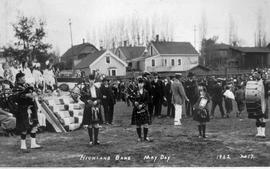 Highland band on May Day
