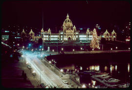 Night View Of The Legislative Buildings Victoria