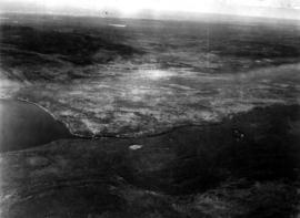 """East end Moberly Lake looking toward Peace River, showing East Moberly Indian Reserve"""