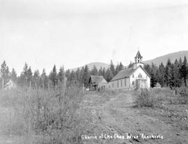 """Church at Chu Chua Indian Rancherie"""