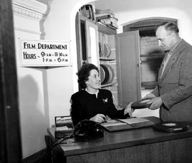 The front desk at the NFB film department