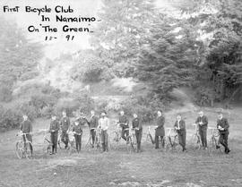 """First bicycle club in Nanaimo; on The Green""."