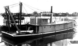 Victoria Harbour; snag-boat the SS Sampson I shortly after completion; built at Albion Iron Works...