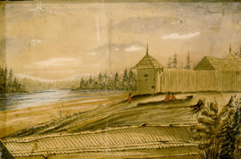 Fort Langley In 1862.