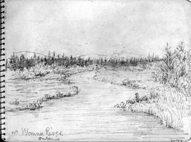 Nr [Near] Woman River, Ontario [Showing River Through Meadow]