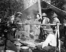 Cooking at the Nechako survey camp.
